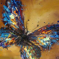 huge-canvas-Modern-hand-paint-Art-Oil-Painting-beautiful-butterfly-NO-frame