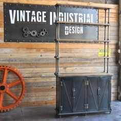 Ellis sideboard with hutch, built for a restaurant by Vintage Industrial in Phoenix...