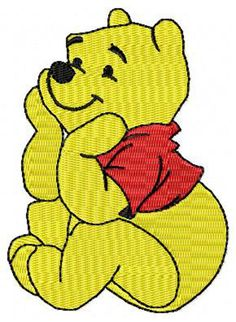 Winnie the Pooh Sitting Machine Embroidery Design  by JereStitches, $4.99