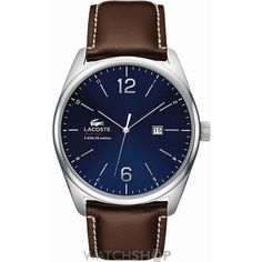 Mens Lacoste Austin Watch 2010749 Mens Watches Leather, Leather Men, Black Leather, Brown Leather Strap Watch, Lacoste Men, Cool Watches, Watches For Men, Gents Watches, Rolex Watches