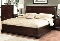 Abbyson Living Donohue Collection Sleigh Bed Set | from hayneedle.com