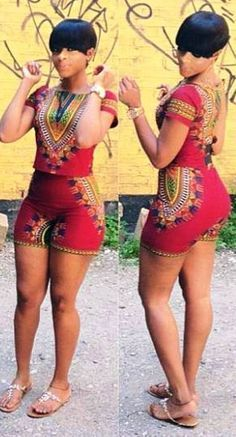 Romper with African Prints