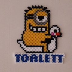 Minion toilet sign hama beads by shallablaykas_perler