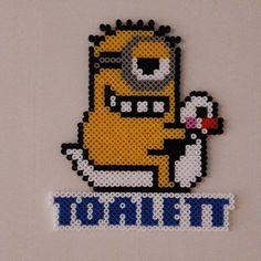 Minion toilet sign hama beads by shallablaykas_perler