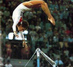 The Coolest Move They Got Rid Of In Olympic Gymnastics  Olga Korbut of Team USSR was a spectacular gymnast that performed an unbelievable routine in the 1972 Olympics.