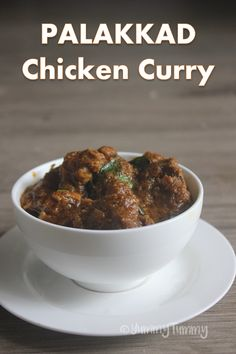 Super simple but delicious chicken curry made palakkad style using shallots, onions and fresh masala. This is a deep coloured chicken curry. Indian Chicken Recipes, Easy Chicken Recipes, Indian Food Recipes, Chicken Curry Recipes, African Recipes, Meat Recipes For Dinner, Veg Recipes, Cooking Recipes, Recipies