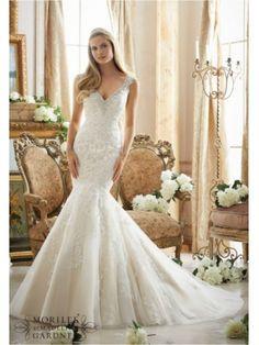 www.bestdresssellingcom  v neck tull over satin mori lee 2878 wedding dress mori lee 2878 Mori lee