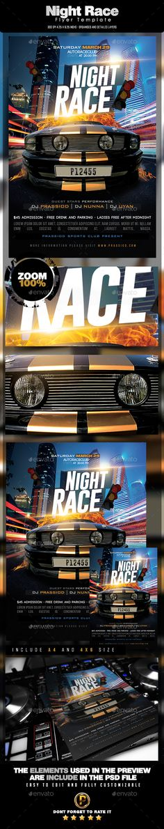 Racing Flyer Template - Bundle 3 in 1   Flyers, Chang'e 3 and ...