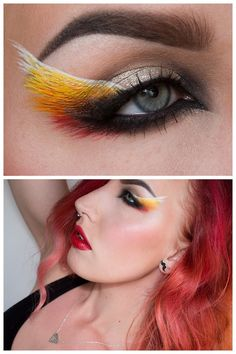 halloweencrafts: DIY Inspiration: Fire Wing Eye Makeup by Sandra...