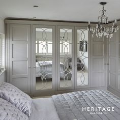 These beautifully finished bespoke wardrobes built into the master bedroom give the whole room a sumptuous boutique hotel look. Bedroom Built In Wardrobe, Bedroom Built Ins, Bedroom Closet Doors, Room Decor Bedroom, Bedroom Wall Cabinets, Bespoke Wardrobes, Wardrobe Door Designs, Home Design Living Room, Build A Closet