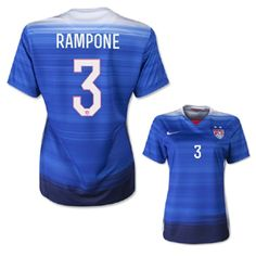 Nike Womens USA Rampone  3 Soccer Jersey (Away 2015 16) Usa Soccer 20542bc8d