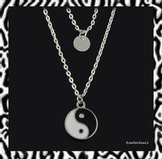 NEW - SILVER DOUBLE LAYER YIN YANG PENDANT NECKLACE #Pendant