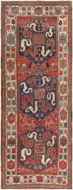 Antique Caucasian Kazak Rug 47077 Main Image - By Nazmiyal