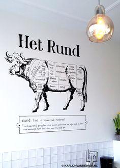 Wandtekening koe - Karlijn van de Wier