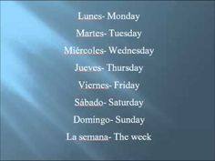 Spanish Days of the Week Song - YouTube