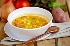Индийский суп с зеленым горошком