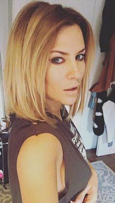 Caroline Flack long blonde bob