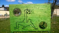 Eine Torwand für angehende Fußballprofi's | Torwand selber bauen Fußball Holz