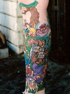 Apoema: Tatuagem Alice no País das Maravilhas