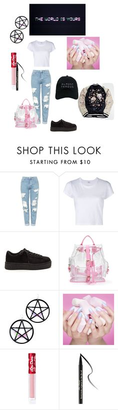 """tumblr child"" by nikkiasheeshie on Polyvore featuring Topshop, RE/DONE, Marina Fini, Lime Crime, Too Faced Cosmetics and Nasaseasons"