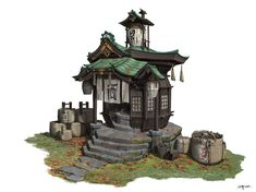 Wine cellar, pengzhen zhang – Wine World Building Concept, Building Art, Building Design, Environment Concept Art, Environment Design, Japanese Shop, Asian Architecture, Fantasy City, Visual Development