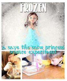 Kids who love the movie Frozen will have so much fun with this experiment!  Perfect for pre-k to second grade.