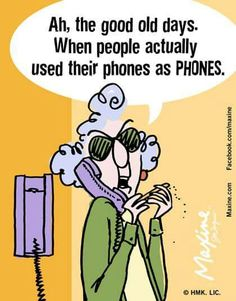 Ah, the good old days when people used their phones as PHONES.