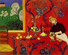 Henri Matisse - Harmony in Red (La desserte), 1908. Oil on canvas