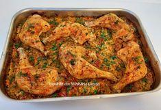 Pulpe de pui pe varza la cuptor - Bunătăți din bucătăria Gicuței Chicken Wings, Meat, Food, Eten, Meals, Diet