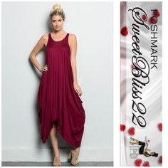 Wine Maxi Beautiful wine Maxi! Definitely a closet addition! Comfortable yet stylish! Don't miss out! Comes in S,M,L Dresses Maxi