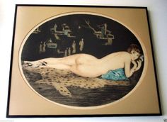 WILLIAM ABLETT 1877-1937 Etching - ART DECO FRENCH NUDE WOMAN SIGNED Listed | eBay