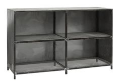 Iron cabinet w. shelves, raw