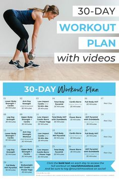 Workout Plan For Women: 30-Day Home Workout Plan
