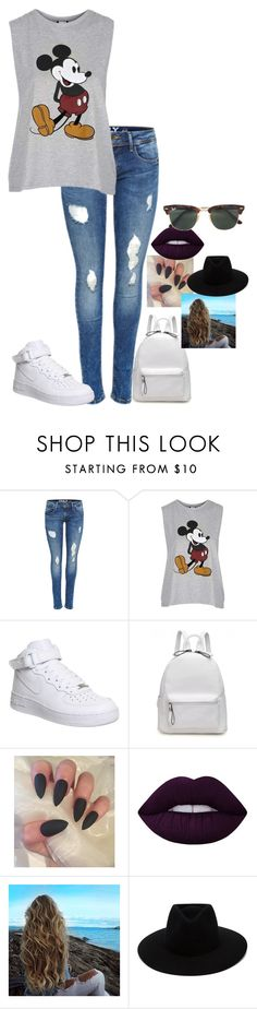 """Untitled #49"" by parislanee on Polyvore featuring Topshop, NIKE, Lime Crime, rag & bone and Ray-Ban"