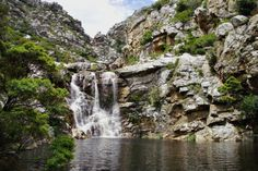 Crystal Pools can be found in  Gordon's Bay, Western Cape  On a blistering False Bay day, join the class-ditching students from Stellenbosch University lazing at Crystal Pools in the Steenbras River Gorge. It's an easy 45 minute hike in, and if the laying gets too lazy for you, take on some of the jumps – anything from three to 15 metres
