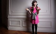 Dino e Lucia shocking pink dress with striped bow. (name : M/Jacky....as J. Kennedy...)