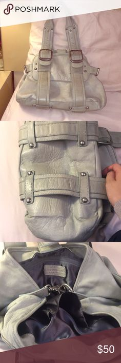 Anthropologie Sabina Moon Grey Leather Bag Beautiful NWOT Sabina bag in a light moon gray color. Never used and looking for a new home! This Sabina bag is made of high quality, buttery soft leather and was originally sold in Anthropologie! Anthropologie Bags Shoulder Bags