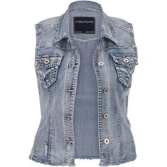 1df4ce3da39 maurices Plus Size - Light Sandblast Fray Hem Denim Vest ( 17) ❤ liked on
