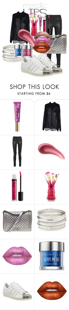 """METALLIC"" by gachy-ferrari on Polyvore featuring Belleza, Too Faced Cosmetics, Chili Peppers, Joseph, Urban Decay, Jacki Design, Chanel, Charlotte Russe, Lime Crime y adidas"