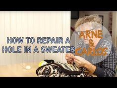 How to repair a hole in a sweater by ARNE & CARLOS – ARNE & CARLOS