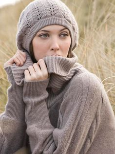 Kinross Cashmere Pointelle Slouchy Hat