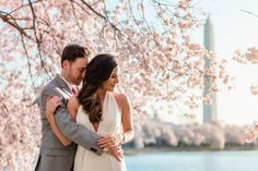 pink dc cherry blossom engagement session, very best engagement by lisa boggs photography