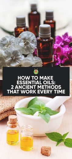 How to make essential oils using two different techniques. The process is pretty simple but homemade is always better and more cherished.