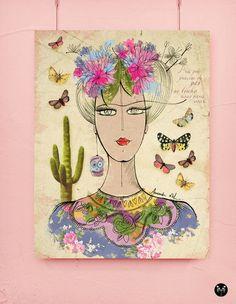 Poster em Lona - Frida