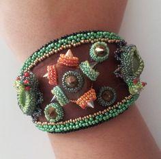 Beaded Beadwoven Bracelet/ Cuff . Inspirational от enchantedbeads
