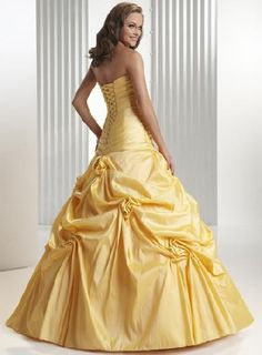 prom dress ball gowns yellow