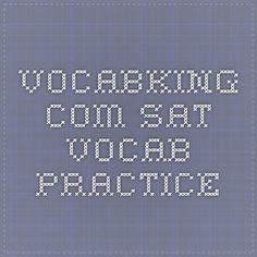vocabking.com - SAT Vocab Practice