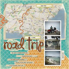 papercraft #scrapbook #layout #Travel scrapbooking travel layouts ...