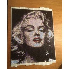 Marilyn Monroe portrait perler beads by artbyfredd