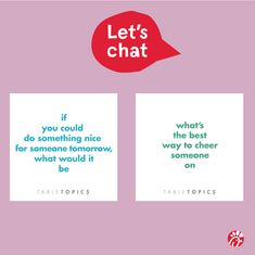 Something Interesting, Something To Do, Table Topics, Let's Chat, Amazing Adventures, Fun Time, Snails, Frogs, Fun Ideas